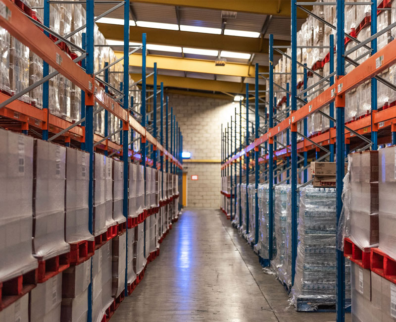 racking or bulk storage delivery of whole pallets