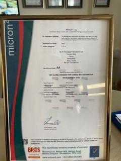 BRC 2021 Certificate